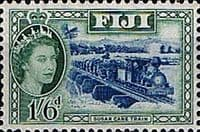 Fiji 1954 SG 290 Sugar Cane Train Fine Mint