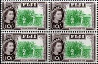 Fiji 1962 SG 324 Cutting Sugar Cane Fine Mint Block of 4
