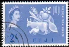 Fiji 1963 Freedom From Hunger Fine Used