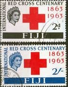 Fiji 1963 Red Cross Centenary Set Fine Used