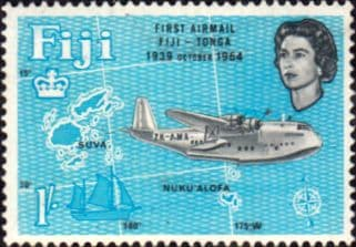 Fiji 1964 25th Anniv of First Fiji-Tonga Airmail Service SG 340 Fine Mint