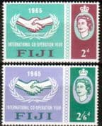 Fiji 1965 International Co-operation Year Set Fine Mint