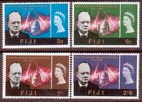 Fiji 1966 Churchill Set Fine Mint