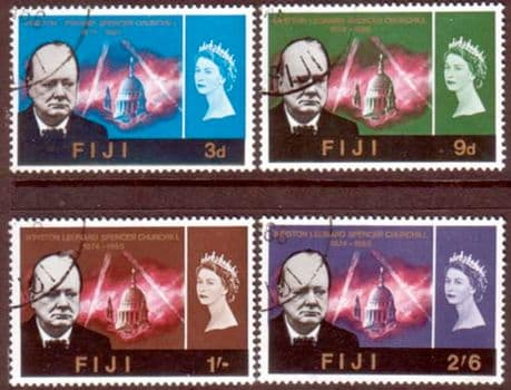 Stamps of Fiji 1966 Churchill Set Fine Used