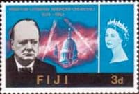 Fiji 1966 Churchill SG 345 Fine Mint