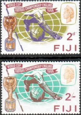 Postage stamps of Fiji 1966 Football World Cup Set Fine Mint