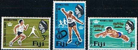 Postage Stamps Fiji 1966 South Pacific Games Set Fine Used