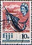 Fiji 1969 SG 399 Blue Marlin Fish Fine Used