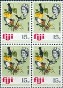 Fiji 1969 SG 400 Sun Birds Fine Mint Block of 4
