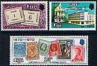 Fiji 1970 Stamp Centenary Set Fine Mint