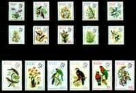 Fiji 1971 Birds and Flowers Set Fine Mint