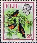 Fiji 1971 Birds and Flowers SG 436 Fine Used