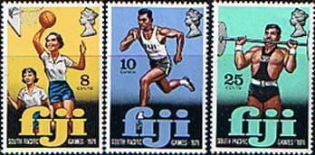 Postage Stamps Fiji 1971 South Pacific Games Set Fine Mint