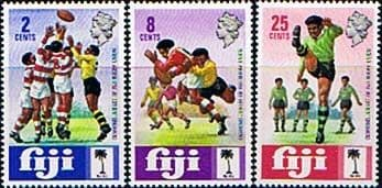 Postage Stamps Fiji 1973 Rugby Union Set Fine Mint