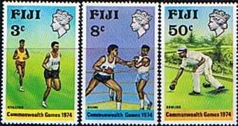 Postage Stamps Fiji 1974 Commonwealth Games Set Fine Mint