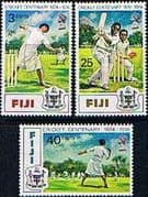 Fiji 1974 Cricket Centenary Set Fine Mint