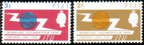 Fiji International Telecomunication Union Set Fine Mint