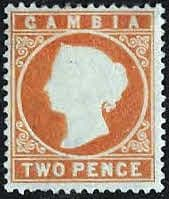 Gambia 1886 Queen Victoria Head SG 25 Fine Mint