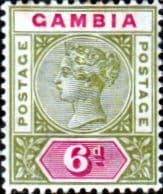 Gambia 1898 Queen Victoria Head SG 43 Fine Mint