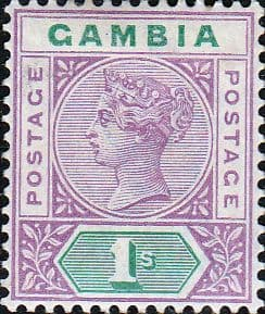 Gambia 1898 Queen Victoria Head SG 44 Fine Used