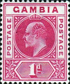 Gambia 1904 King Edward VII Head SG 58 Fine Mint
