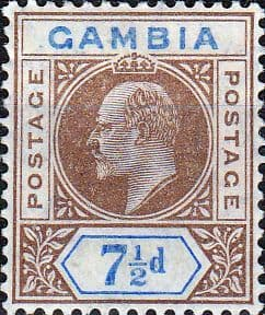 Gambia 1909 King Edward VII Head SG 79 Fine Mint