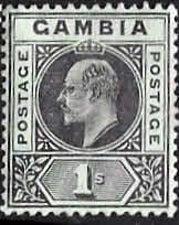 Gambia 1909 King Edward VII Head SG 81 Fine Mint