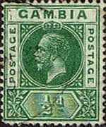 Gambia 1912 King George V SG 86 Fine Used