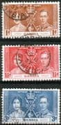 Gambia 1937 King George VI Coronation Set Fine Used