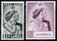 Gambia 1948 King George VI Royal Silver Wedding Set Fine Mint