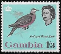 Gambia 1963 Birds SG 201 Red-eyed dove Fine Mint