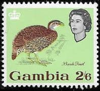 Gambia 1963 Birds SG 202 Double-spurred francolin Fine Mint