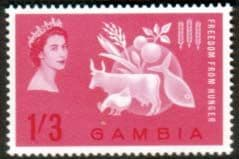 Gambia 1963 Freedom From Hunger Fine Mint