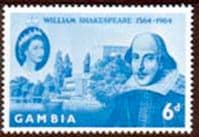 Gambia 1964 William Shakespeare Fine Mint