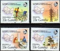 Gambia 1982 Economic Community of West African States Development Set Fine Mint