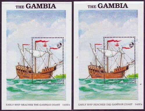 Gambia 1988 Exploration of West Africa Miniature Sheets Set Fine Mint