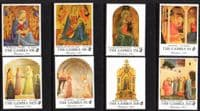 Gambia 1994 Christmas. Religious Paintings Set Fine Mint