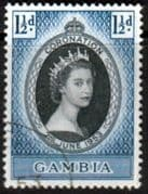Gambia Queen Elizabeth II 1953 Coronation Fine Used
