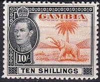 Gambia Stamps King George VI