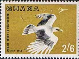 Ghana 1958 Inauguration of Ghana Airways SG 196 Plane Palm-nut Vulture and Vickers Fine Mint