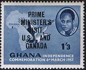 Ghana 1958 Prime Ministers Visit to the USA and Canada Overprint SG 200 Fine Mint