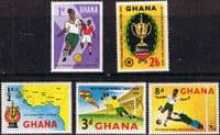 Ghana 1959 West African Football Competition Set Fine Mint