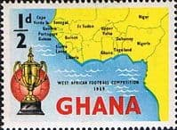 Ghana 1959 West African Football Competition SG 228 Fine Mint