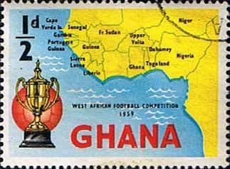 Ghana 1959 West African Football Competition SG 228 Fine Used
