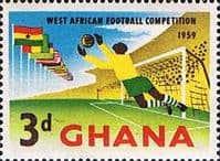 Ghana 1959 West African Football Competition SG 230 Fine Mint