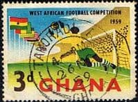 Ghana 1959 West African Football Competition SG 230 Fine Used