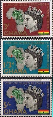 Ghana 1961 Royal Visit Set Fine Mint
