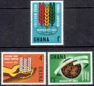 Ghana 1963 Freedom From Hunger Set Fine Mint