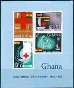 Ghana 1963 Red Cross Centenary Miniature Sheet Fine Mint