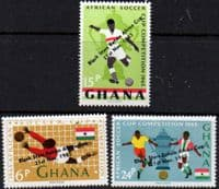 Ghana 1965 Black Stars Retain Africa Cup Set Fine Mint